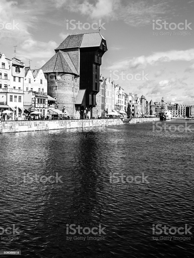 The medieval crane in gdansk city centre royalty free stock photo
