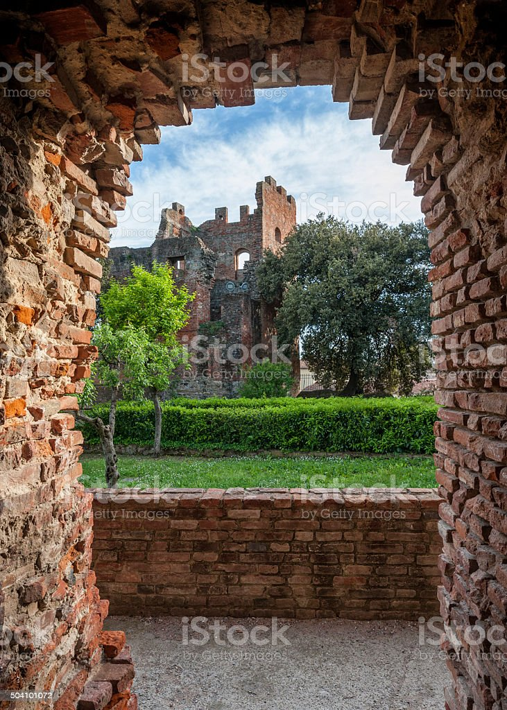 The Medieval fortress stock photo