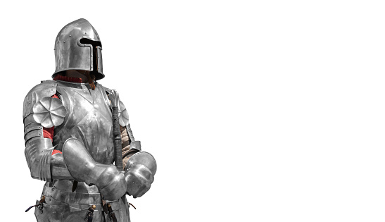 The medieval knight is a symbol of reliable security and safety.