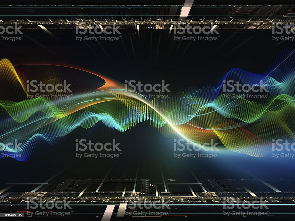 The Meditations on Fractal Realms royalty-free stock photo