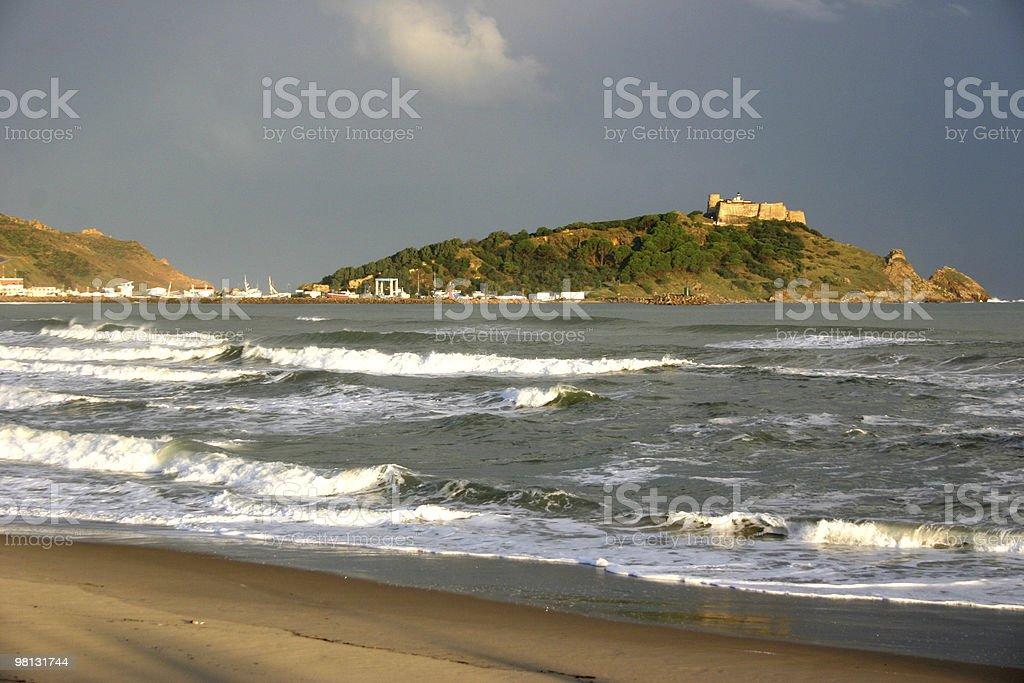 지중해 at 타바르카, 튀니지 royalty-free 스톡 사진