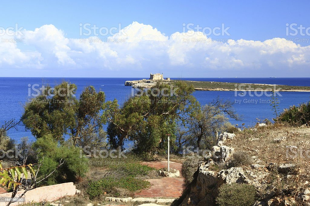 The Mediterranean Sea from high hills royalty-free stock photo