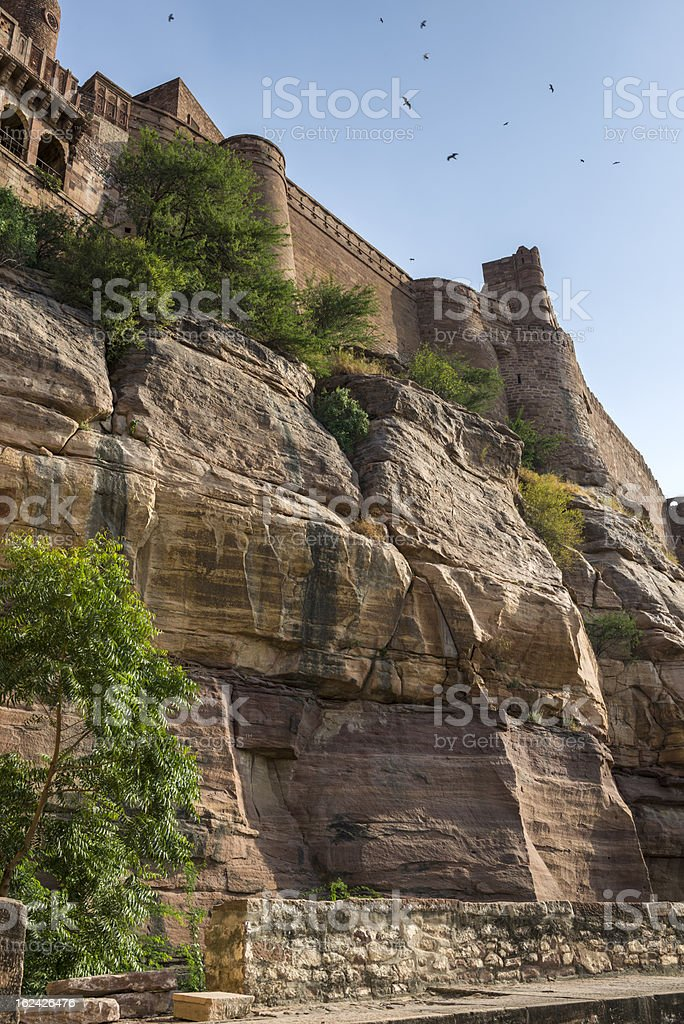 The Mehrangarh Fort in Jodhpur city, India royalty-free stock photo