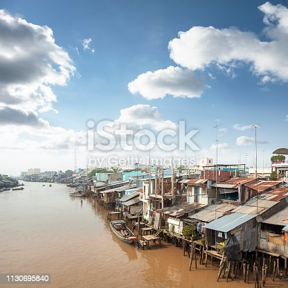 The Mekong River In My Tho, Vietnam