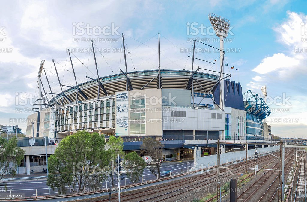 The Melbourne Cricket Ground stock photo