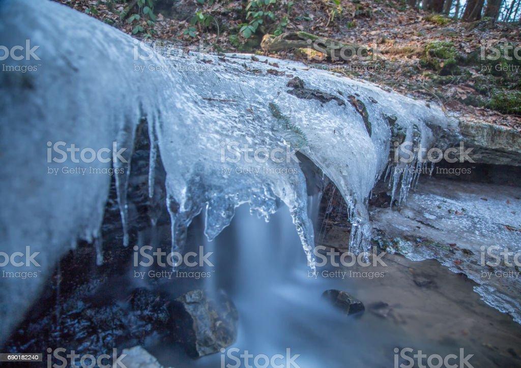 The melodious waterfall near Lauf a.d. Pegnitz, Germany stock photo