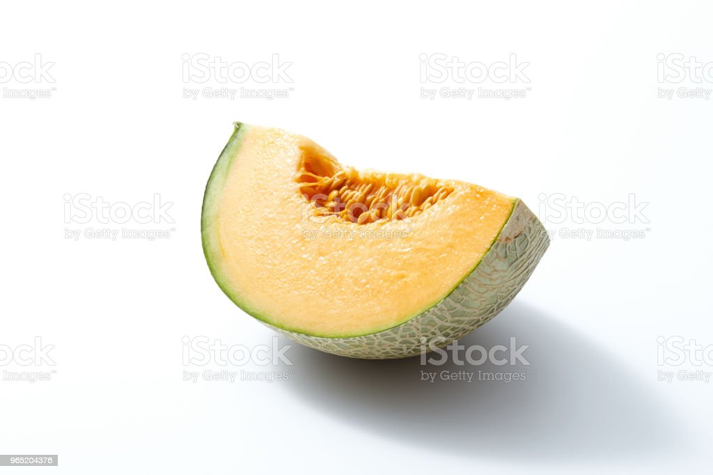 the melon on white zbiór zdjęć royalty-free