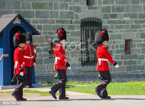 istock The members of the Canadian Royal 22nd Regiment 923476574