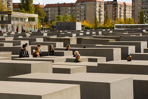 The memorial to the murdered Jews of Europe, the holocaust memorial