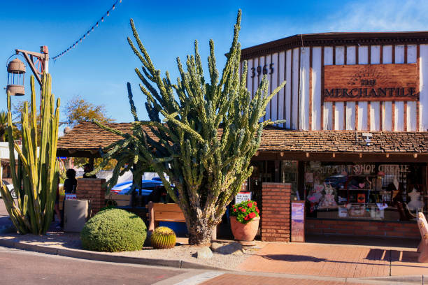The Merchantile store in the western wear area of Old Town Scottsdale AZ stock photo