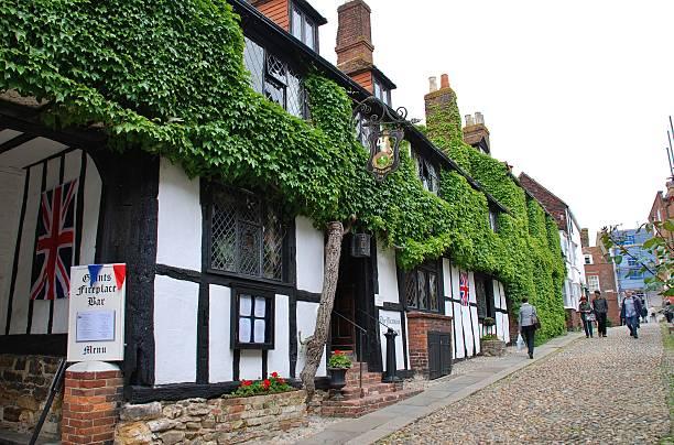 The Mermaid Inn, Rye stock photo