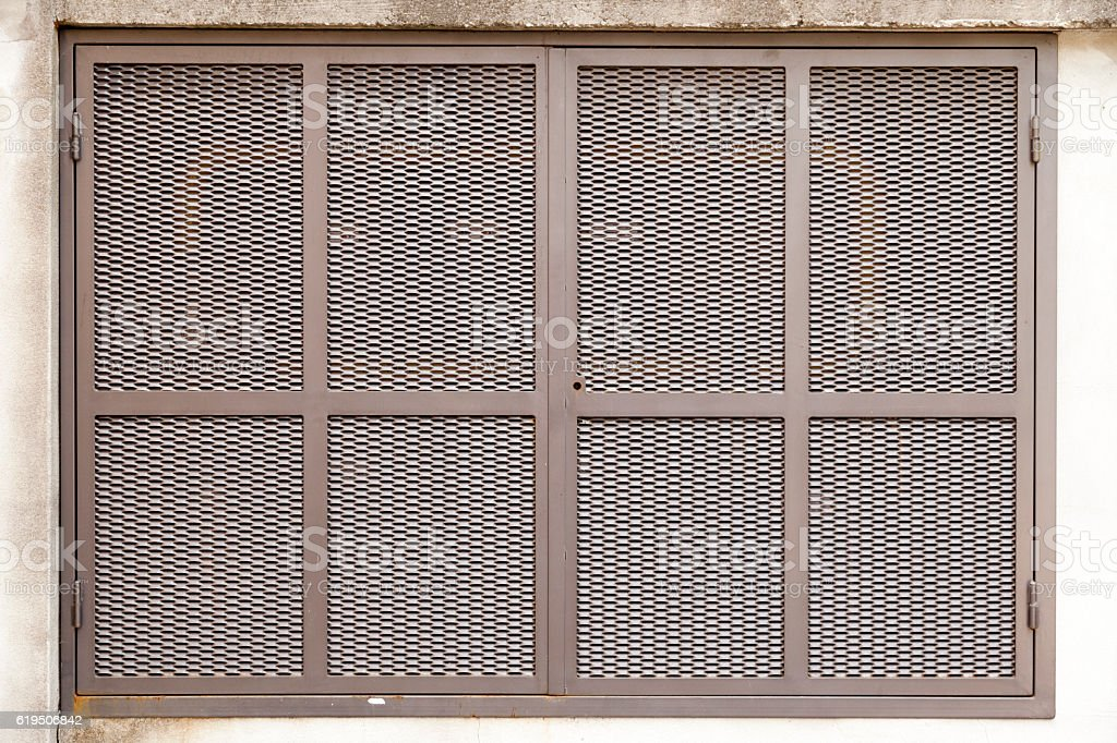 The metal box stock photo