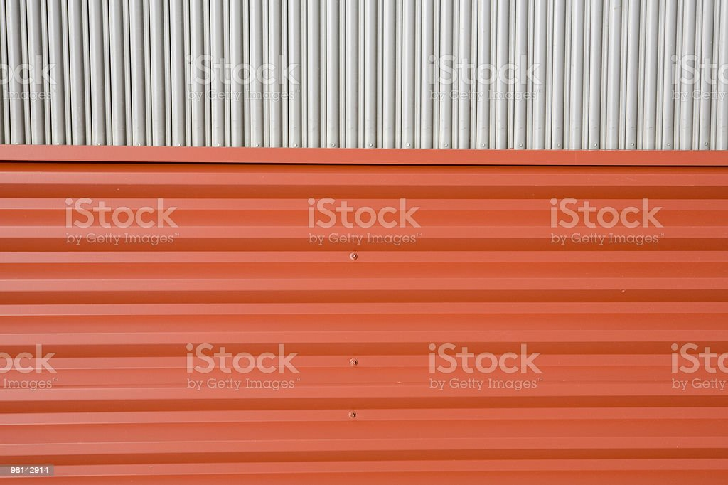 The metal exterior of a warehouse royalty-free stock photo