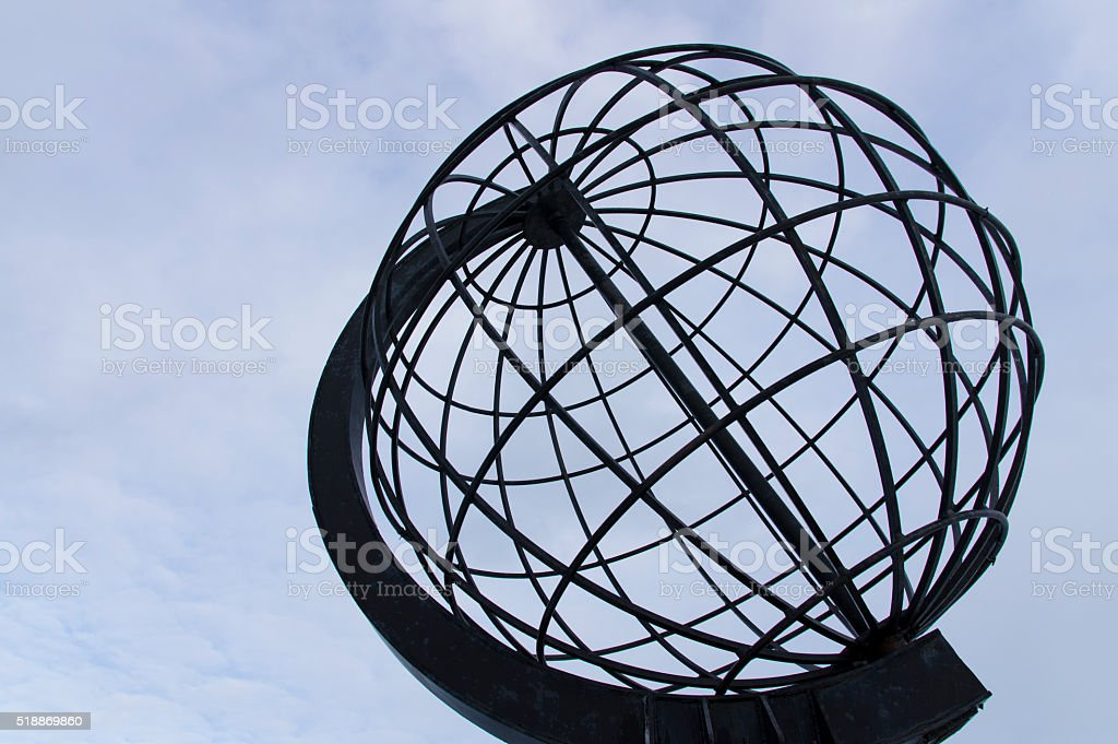 The Metal Globe royalty-free stock photo