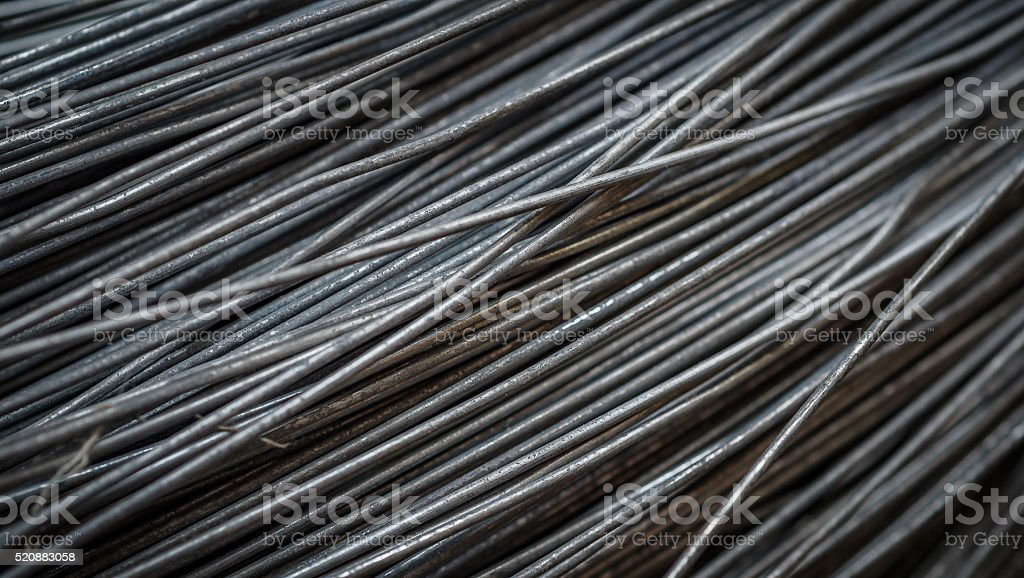The metal wire stock photo