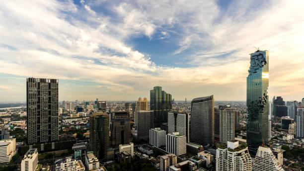 曼谷城市市區都市天際線-曼谷城市景觀圖像檔