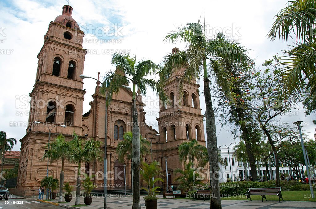 The Metropolitan Cathedral Basilica of San Lorenzo stock photo