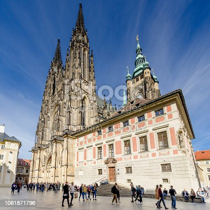 istock The Metropolitan Cathedral of Saints Vitus, Wenceslaus and Adalbert, Old Provost Residence. Hradcany quarter, Prague. 1061871796