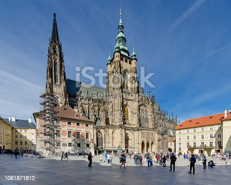 istock The Metropolitan Cathedral of Saints Vitus, Wenceslaus and Adalbert. Hradcany quarter, Prague. 1061871812