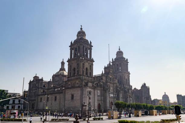 A Catedral Metropolitana da cidade do México (La Catedral Metropolitana de la Ciudad de México) - foto de acervo