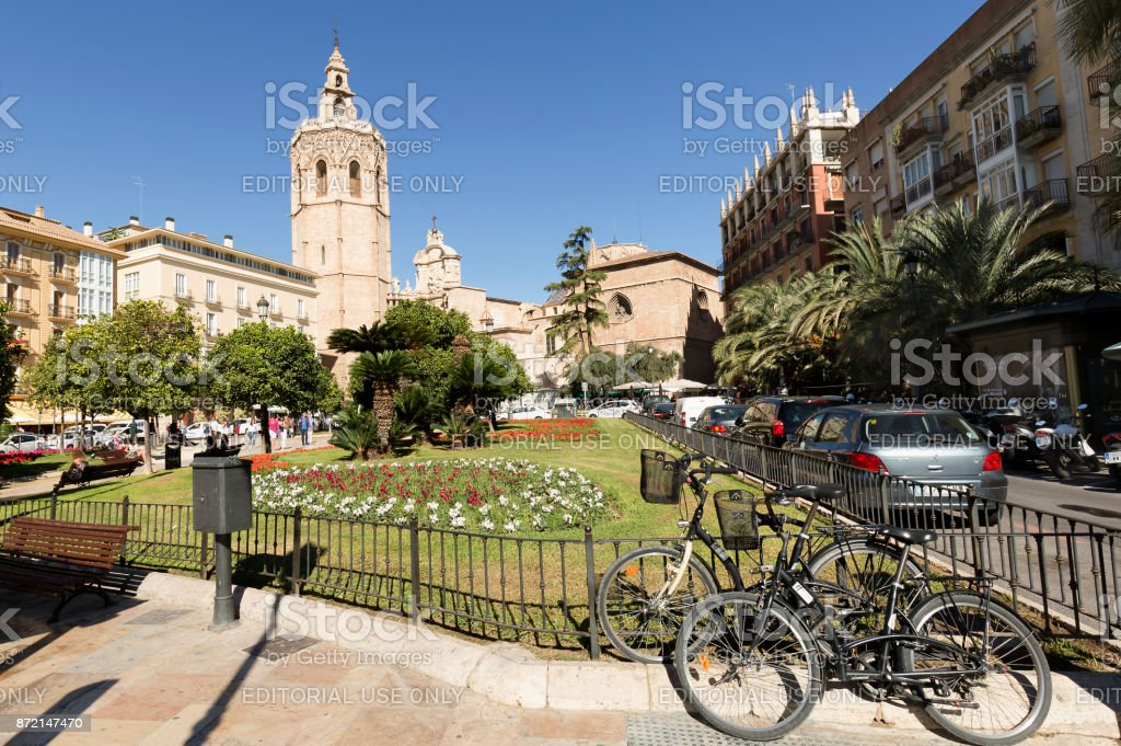 The Metropolitan Cathedral-Basilica Church of the Assumption of Our Lady of Valencia stock photo