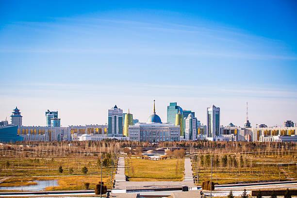The metropolitan city of Astana The city of Astana, capital of Kazakhstan kazakhstan stock pictures, royalty-free photos & images