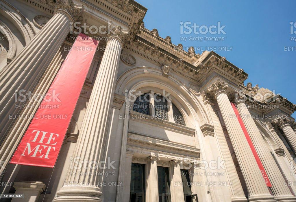 The Metropolitan Museum Of Art's Facade stock photo