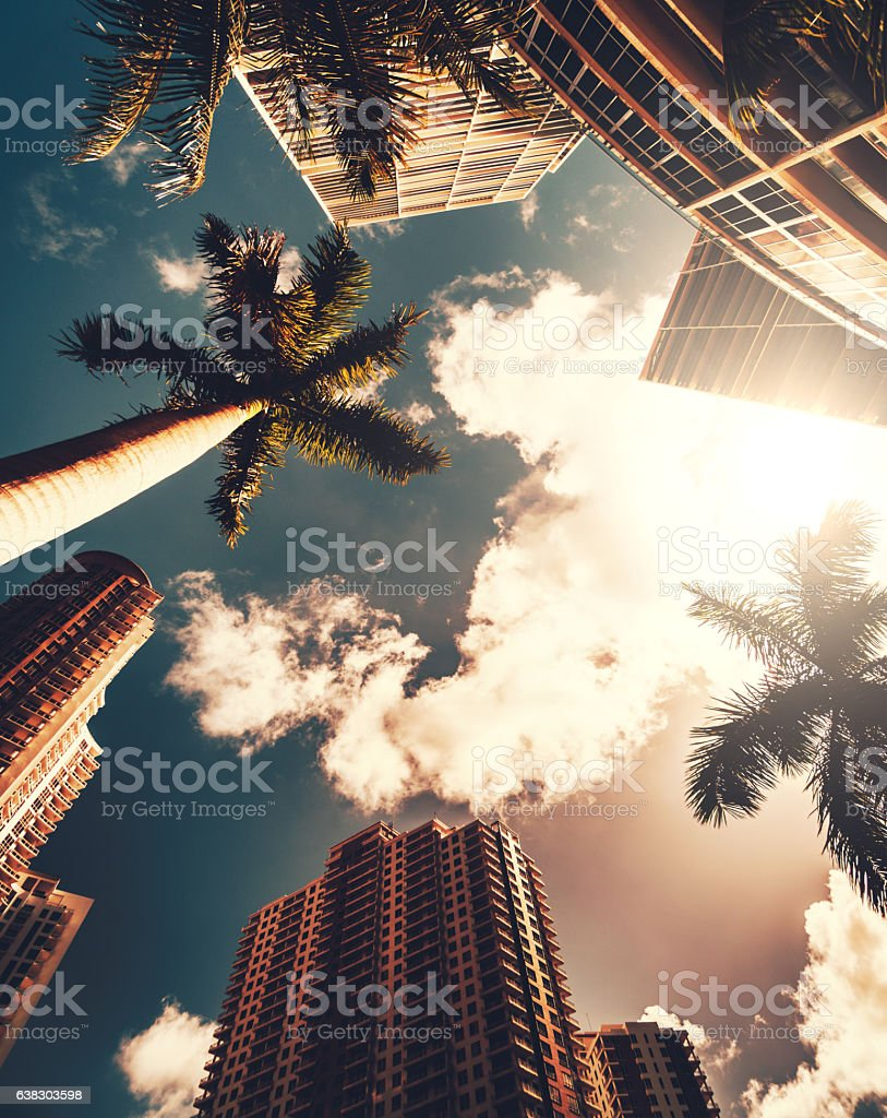 the Miami brickell key aerea in the downtown stock photo