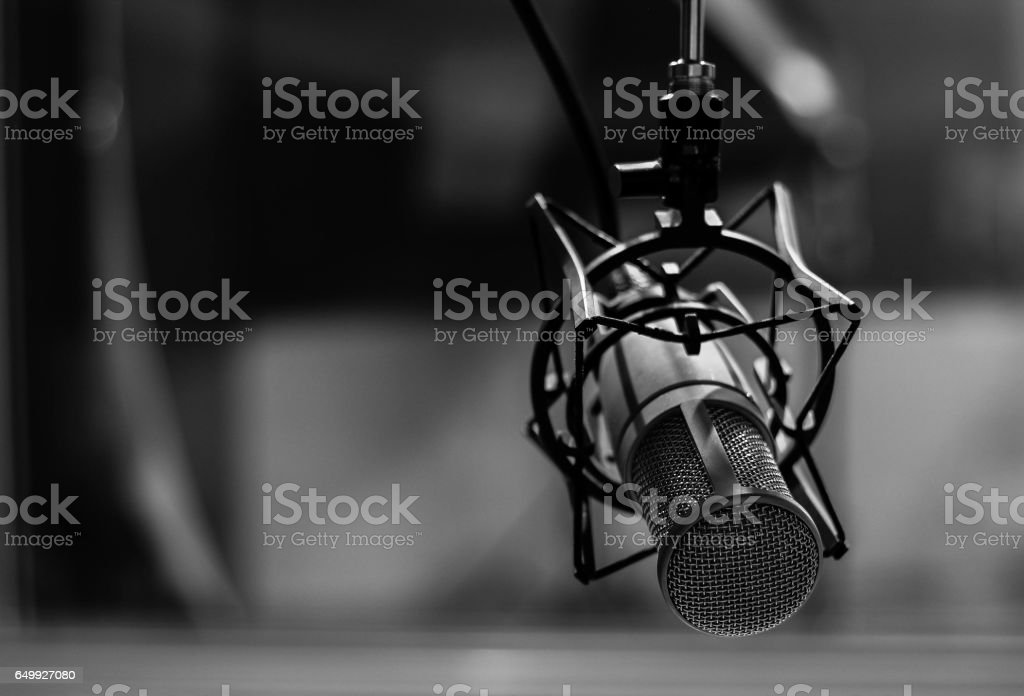 The mic. stock photo