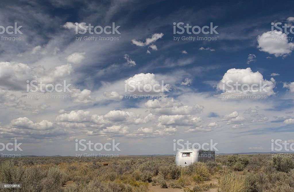 The Middle of Nowhere stock photo