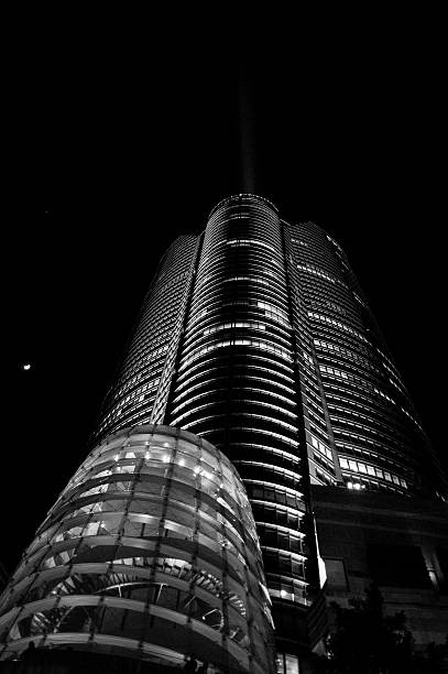 The middle of the night of Roppongi Hills stock photo
