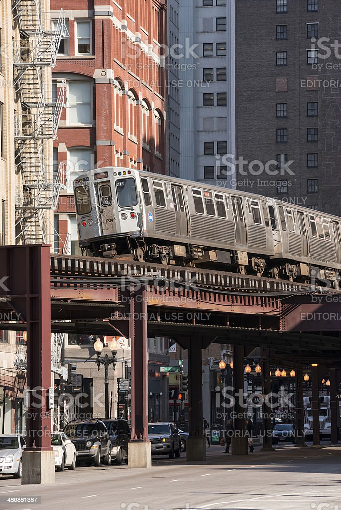 The Midway L Train stock photo