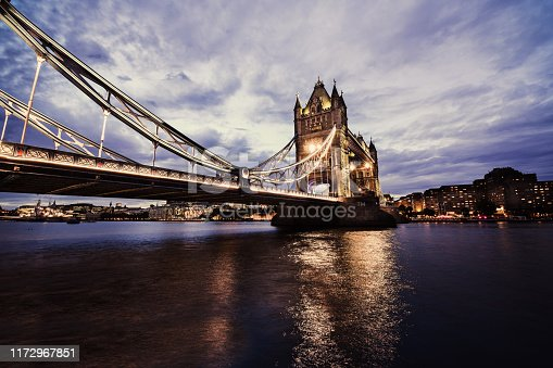 The Mighty Lights Of Tower Bridge In London, UK