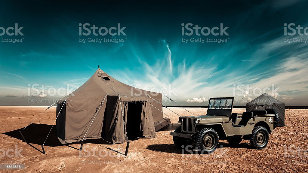 The military base stock photo