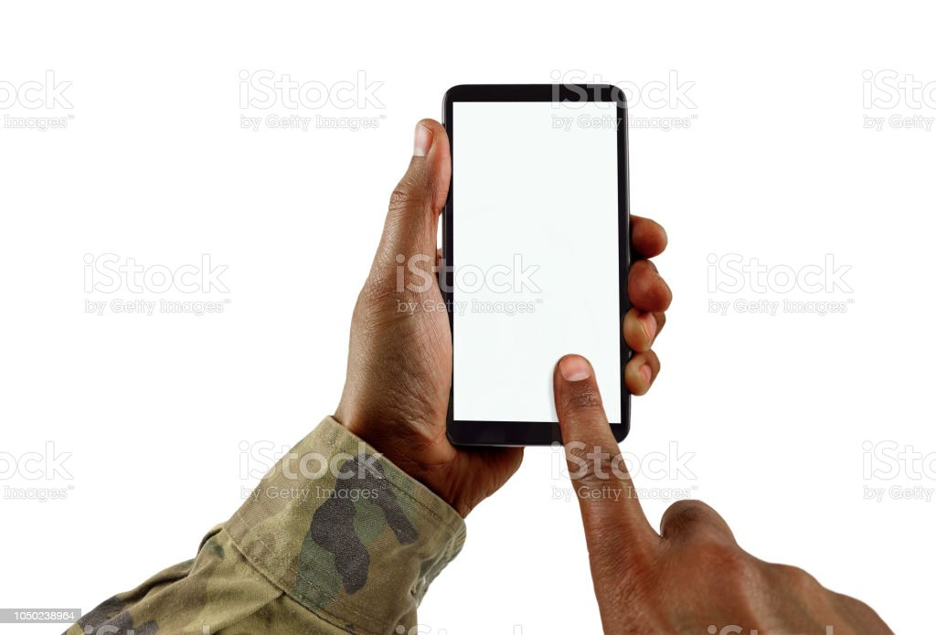 the military communication stock photo