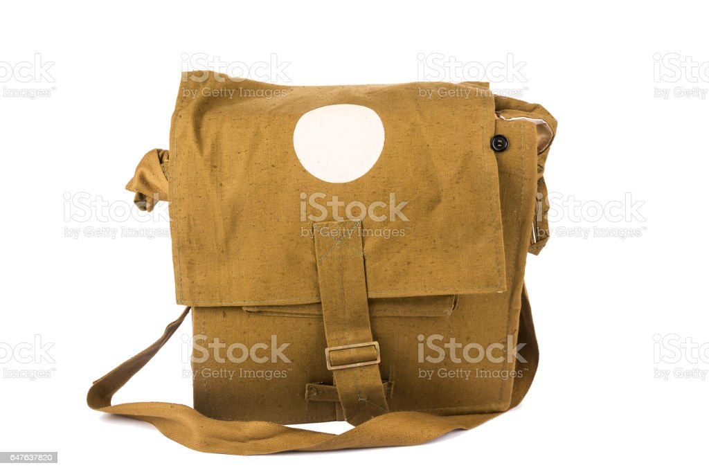The Military First Aid Kit Isolated Stock Photo - Download Image Now