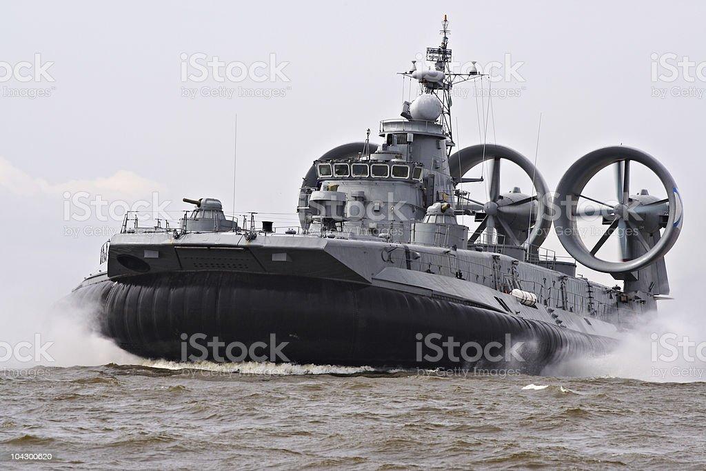The military ship stock photo