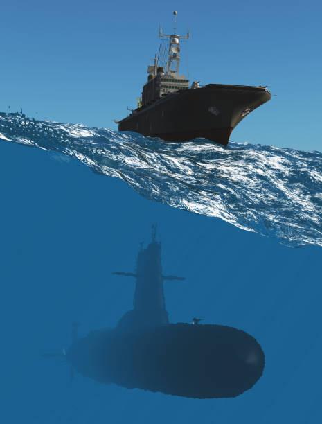 die militärische schiffe - u boote stock-fotos und bilder