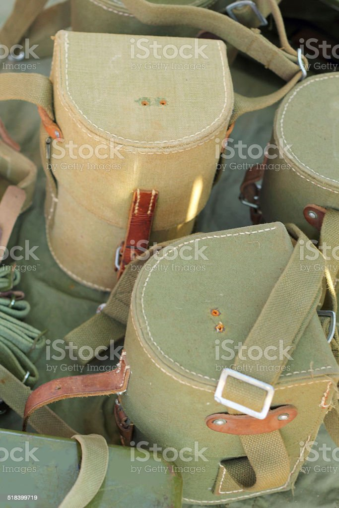 The Military Water Bottle - for sale. stock photo