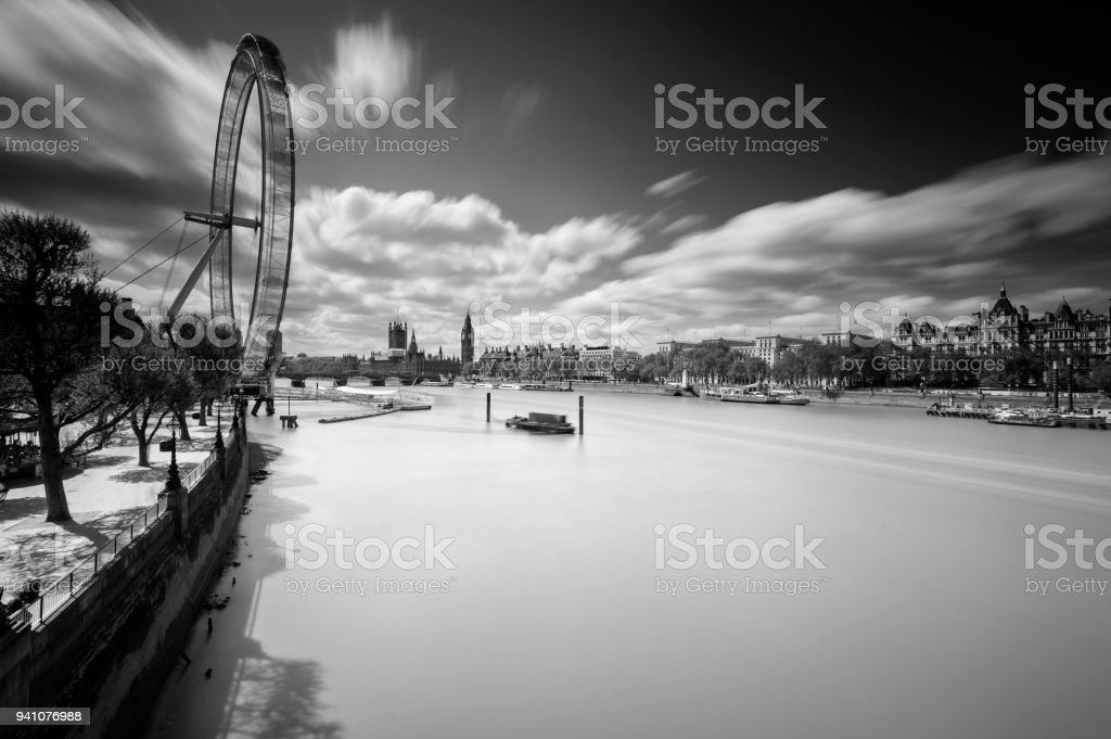 The Milky Thames River London stock photo