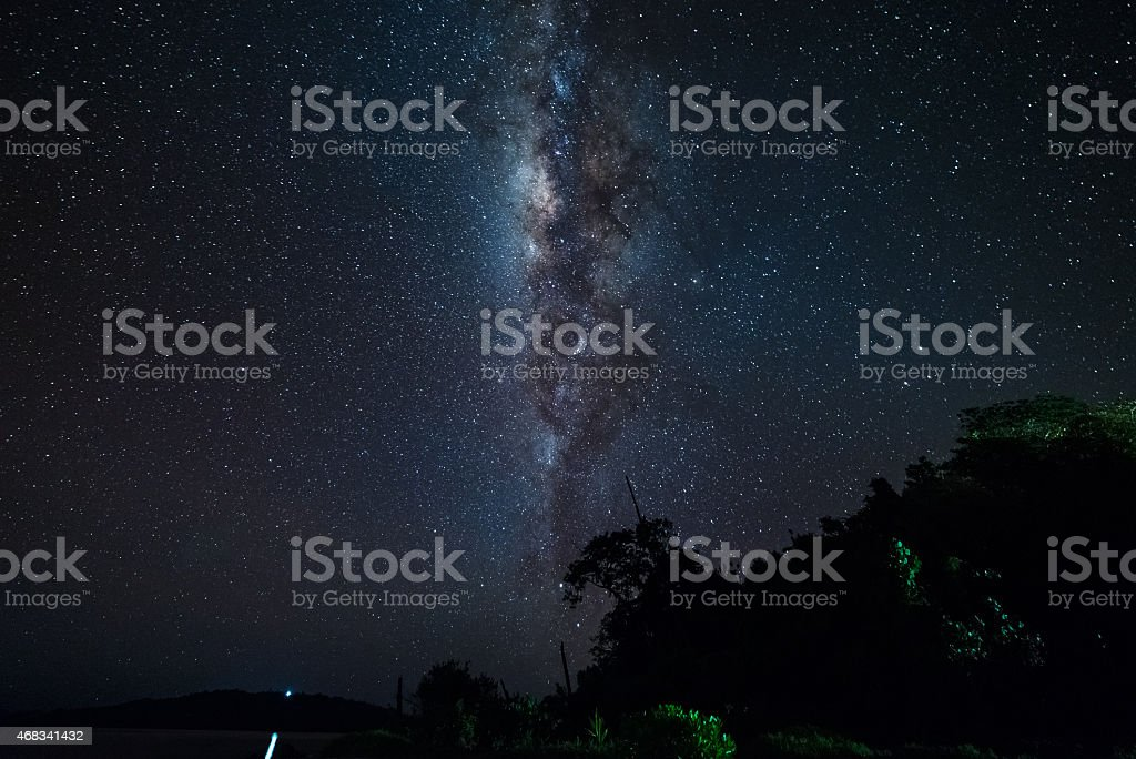 The Milky Way from the equator line stock photo
