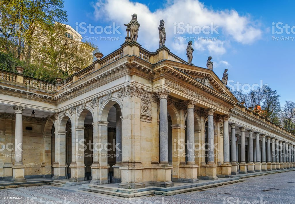 The Mill Colonnade, Karlovy Vary stock photo
