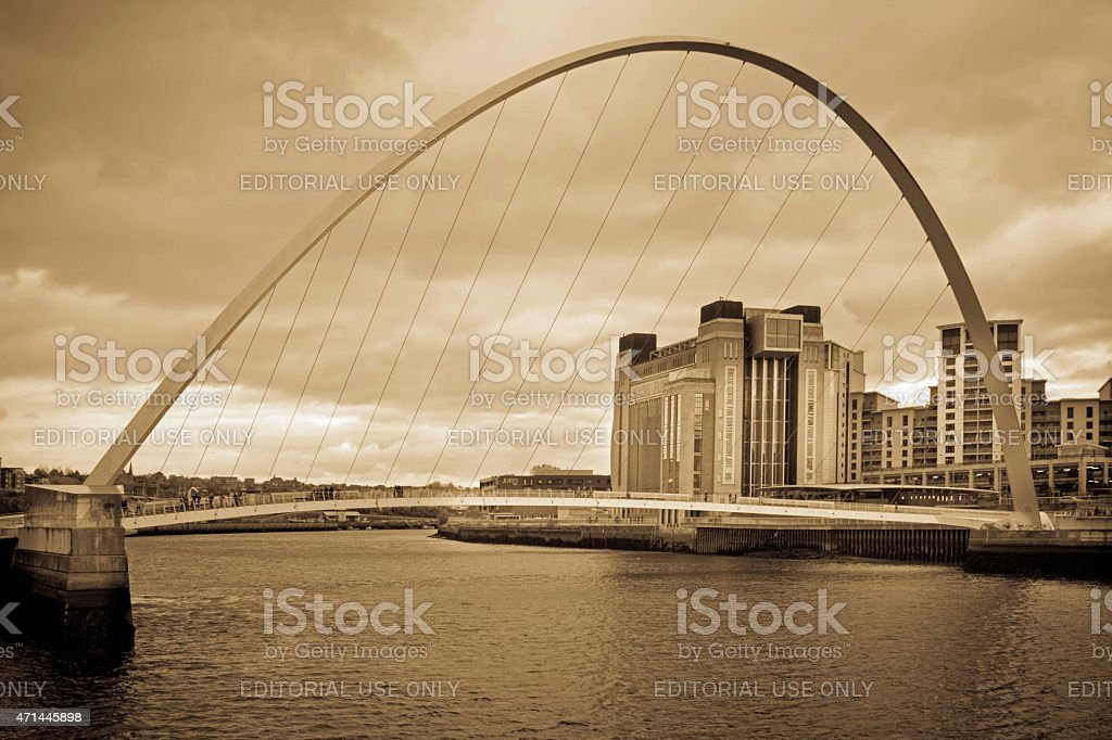 The Millenium Bridge stock photo