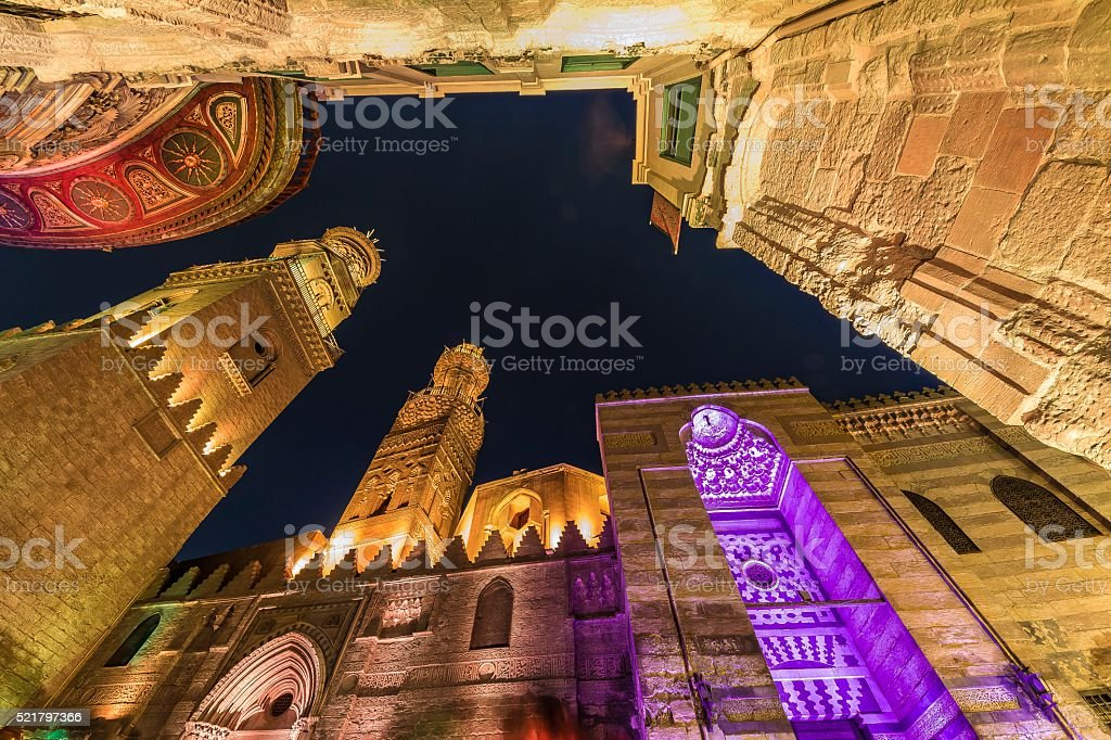 the minarets stock photo