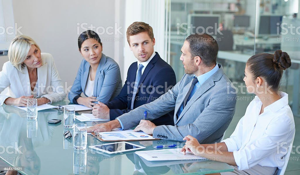 The minds behind the company stock photo
