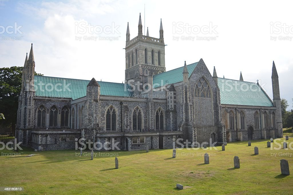 The Minster Church of St Nicholas in Great Yarmouth stock photo