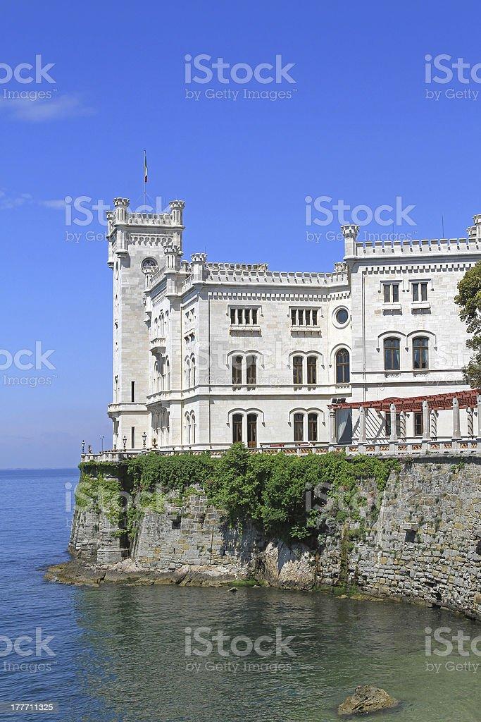 The Miramare Castle stock photo
