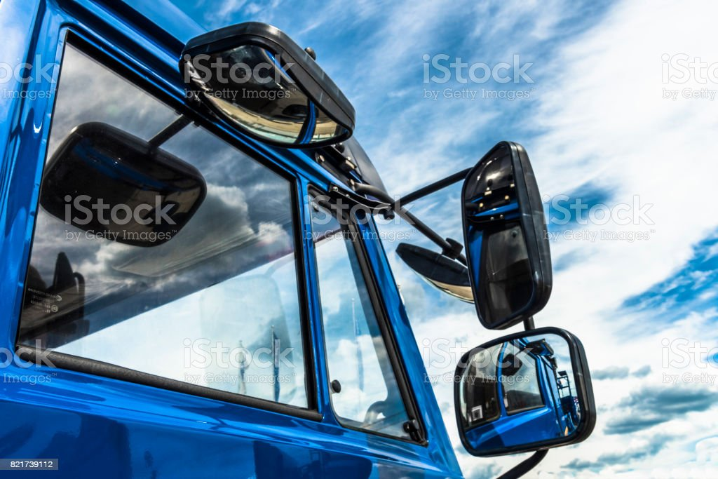 The Mirror on sky background stock photo