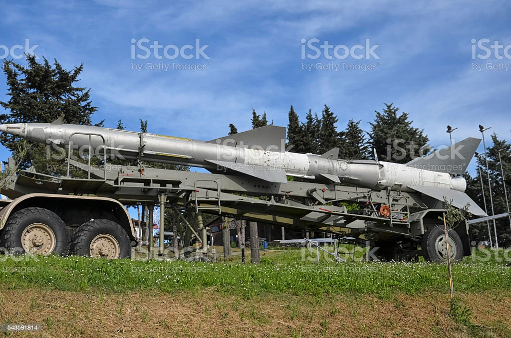 The missile of the SA-2 Guideline system stock photo