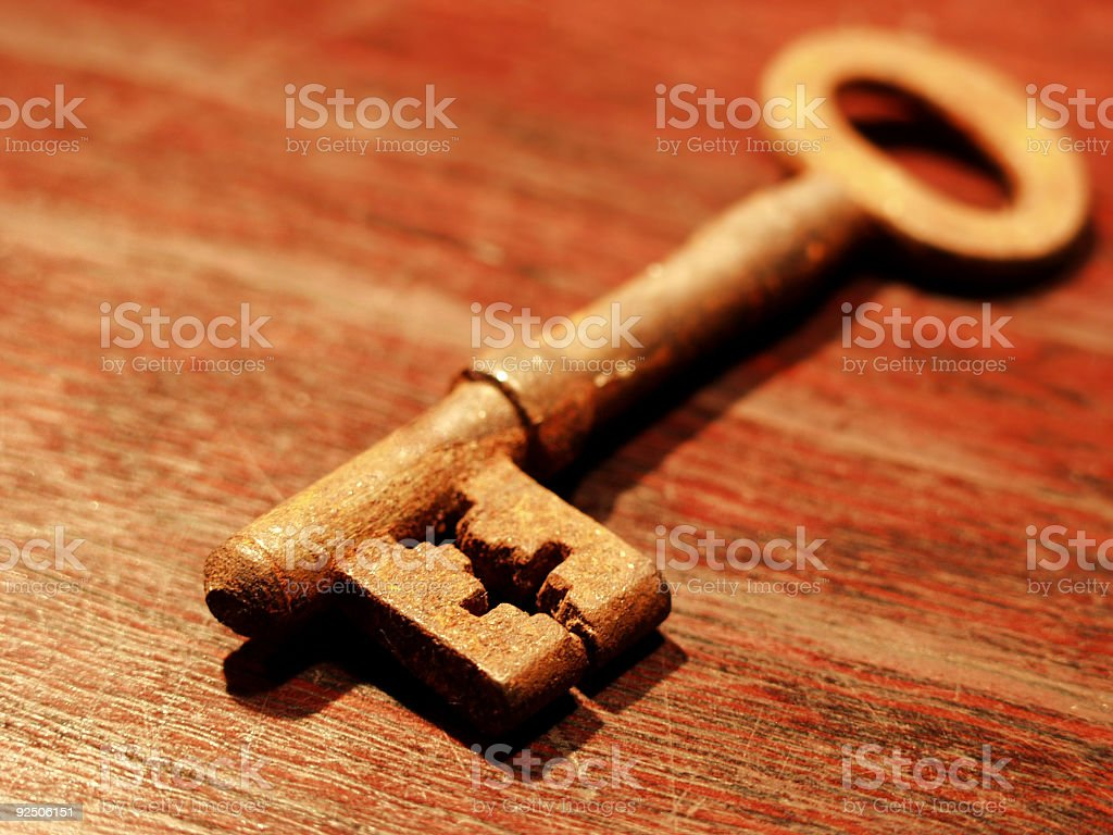The missing key royalty-free stock photo